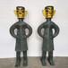 三星堆青銅器雙面人像廣場景觀銅雕塑