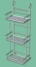 高档浴室置物架不锈钢置物架厂家低价置物架图片