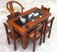 湖南老船木茶桌椅组合批发仿古茶艺桌图片中式明清家具