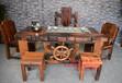 德阳老船木一品家具批发茶桌椅组合图片仿古功夫茶几特价客厅沙发泡茶台