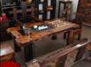 老船木一品休闲旧石墨茶台批发实木创意茶桌椅组合图片功夫茶户外茶几