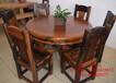 大同船木一品家具茶桌餐桌椅组合批发实木船木家具图片原生态客厅阳台功夫茶台