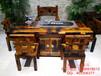 澳门船木一品家具批发实木客厅餐桌茶台茶几茶具图片中式防腐功夫茶道桌椅