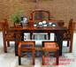 固原老船木一品海螺孔茶臺批發沉船木茶桌椅組合圖片實木厚板功夫泡茶桌