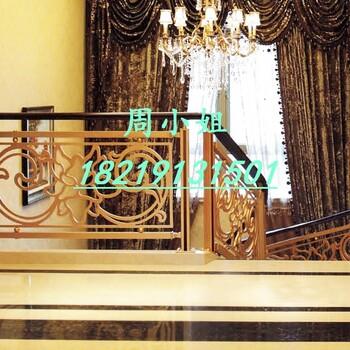 山东青岛溢升铝艺雕花护栏铝艺楼梯栏杆批发代理