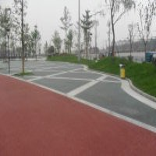 湖北专业社区休闲广场路面防滑耐磨彩色透水地坪