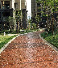 重庆环保景观道路艺术地坪-优质压模地坪-压花艺术地坪