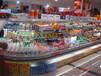 安徽定做环形水果蔬菜展示柜超市大型商用冷藏展示柜