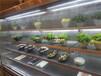 ?#36153;?#28779;锅店专用菜品展示柜不锈钢喷雾风幕柜敞开式菜品展示柜