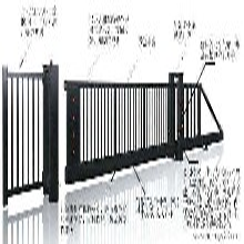 薊縣安裝滑軌門,懸浮門,電動平移門圖片
