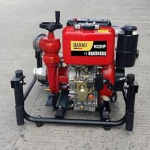 2.5寸流量50立方手抬柴油机动消防泵