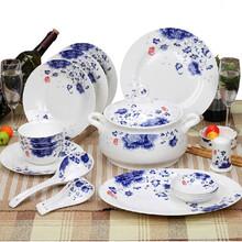 礼品陶瓷餐具定制56头标配餐具套装批发