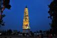 x1南充白塔公园亮化投影建筑墙体亮化投影秀现场直播