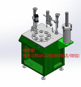 厂家直销8工位球泡灯铝基板自动压板点胶机球泡灯压板打胶一体机