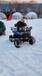 雪地四輪越野車兒童戲雪游樂設備兒童電動卡丁車