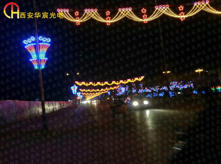 led灯光隧道,led过街灯生产厂家,led跨街灯造型