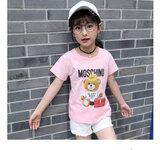 小女孩服装批发四五岁小朋友服装货源低价批发中小童短袖套装货源儿童服装批发