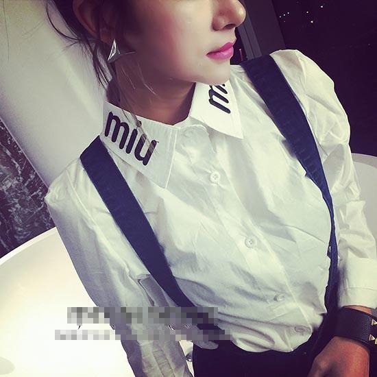 韩版女装长袖上衣图片