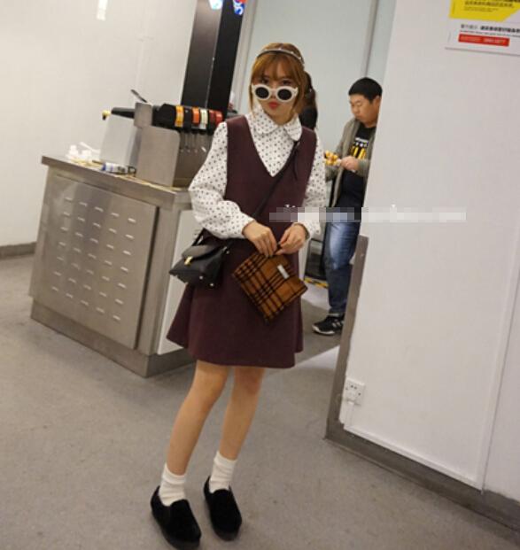 秋季女装货源最低价批发2017韩版秋装学院风女孩长袖衬衫打底衫批发厂家直销