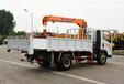 海南海口3.2吨重汽王牌随车吊货箱3.45米上蓝牌的随车吊操作过程