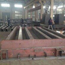 100吨出口地磅生产厂,3X12米分割式秤台