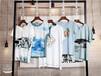 2019新款珍俏夏装水墨风T恤,短袖T恤淘宝直播货源折扣女装品牌尾货货源