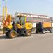 达沃公路防护护栏打桩机护栏打桩机一体机绿化带护栏