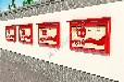 壁挂式宣传栏制作款式新颖做工精湛湖北宜昌亿龙标牌厂