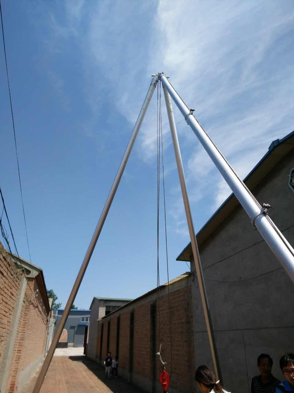 12米铝合金三角立杆机生产厂家优质三角拔杆出厂价格河北供应电线杆立杆机