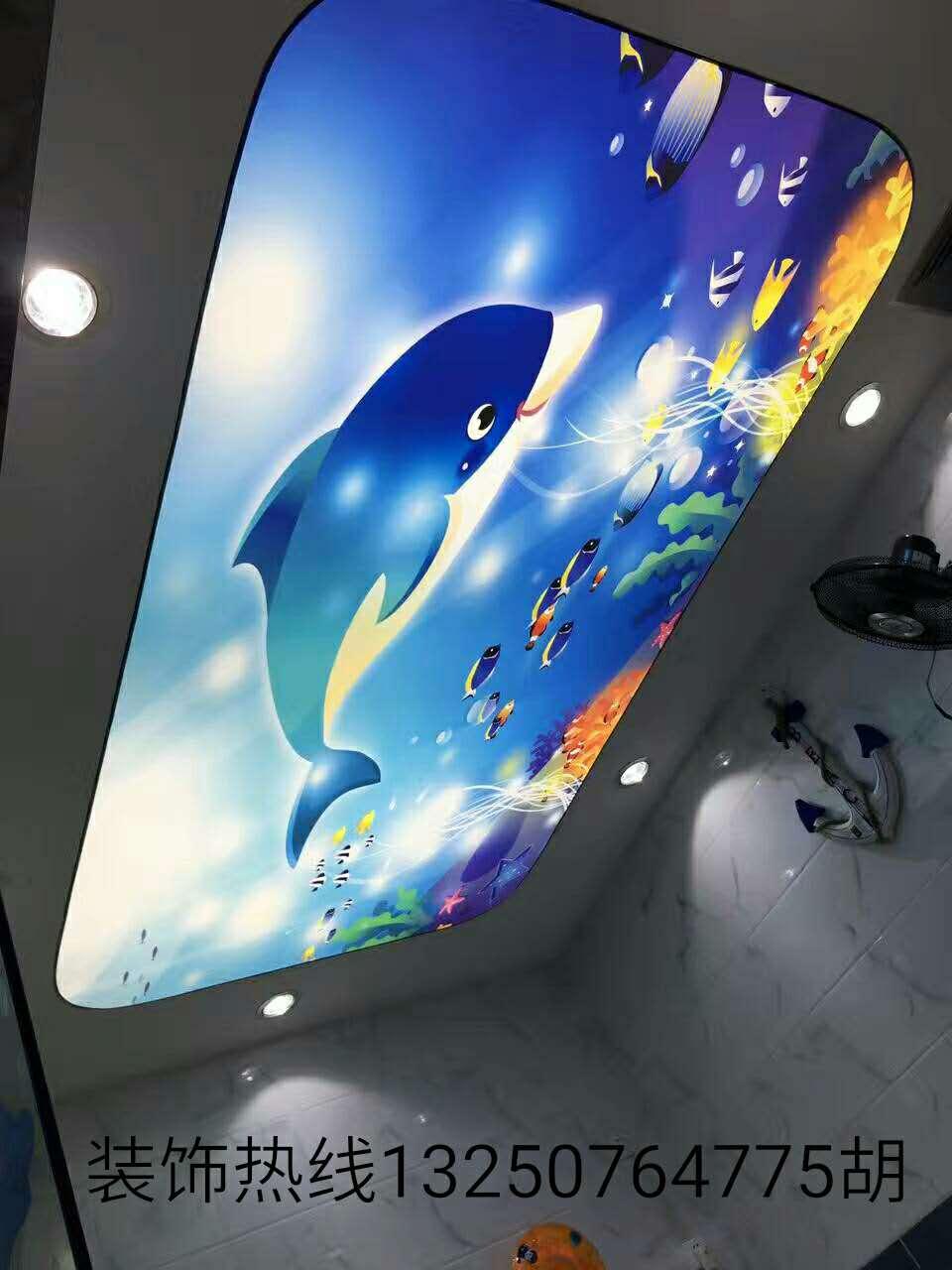 广东惠州软膜天花吊顶安装a级防火膜uv喷绘膜广告灯箱透光膜高清写真