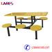 西安格拉瑞斯学校食堂六人位连体餐桌椅