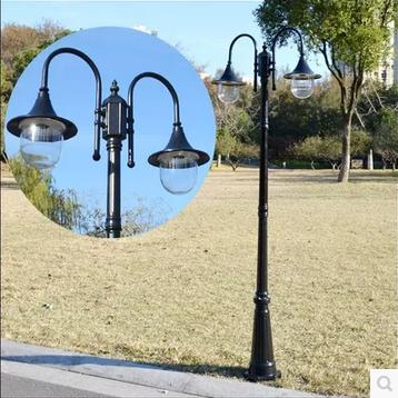 led欧式庭院灯小区路灯景观灯户外灯双头公园高杆道