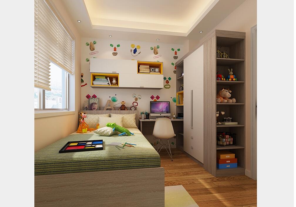 创意儿童房装修效果图-定制儿童房家具-家居100