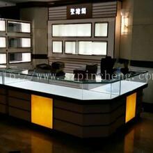 深圳展柜厂家定制聚缘阁珠宝柜台密度板烤漆珠宝展示柜