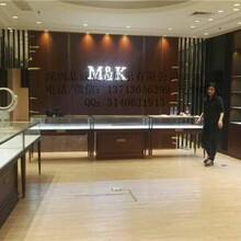 深圳南山华侨城M&K珠宝店设计珠宝展示柜定做木质烤漆展柜