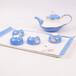 6头手绘功夫茶具高端骨瓷礼品唐山茶具厂家批发定做