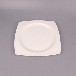 唐山陶瓷盘子批发纯白骨瓷餐盘8寸方平盘欧式菜盘