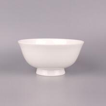 家用骨瓷餐具碗纯白骨瓷面条碗6寸高足碗唐山陶瓷厂家批发图片