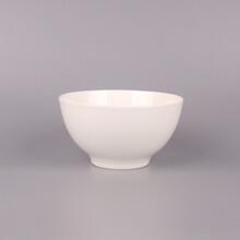 骨瓷餐具碗唐山纯白骨瓷4.5寸英式碗家庭厨房用纯白陶瓷碗图片