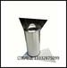 商场高档垃圾桶酒店不锈钢大号高卫生桶废物桶印logo圆形摇盖