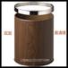 酒店垃圾桶房间桶卫生间客房桶办公室小垃圾桶圆形桃木小垃圾篓无盖高档