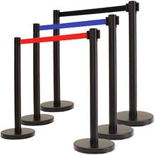 不锈钢隔离带伸缩栏杆柱银行排队柱餐厅护栏定制201不锈钢伸缩隔离带图片