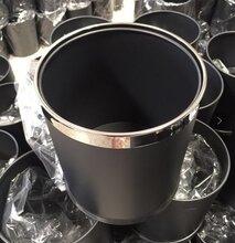 办公室小垃圾桶钢圈黑色无盖圆形卫生桶防锈阻燃双层废物垃圾筒图片