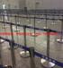 定制栏杆座定制栏杆立柱印LOGO伸缩带立柱不锈钢栏杆座