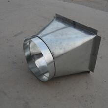 風管配件鍍鋅天圓地方加工螺旋風管廠家新誠制作圖片