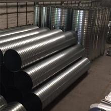廣東螺旋風管鍍鋅板風管不銹鋼風管通風除塵配件廠圖片