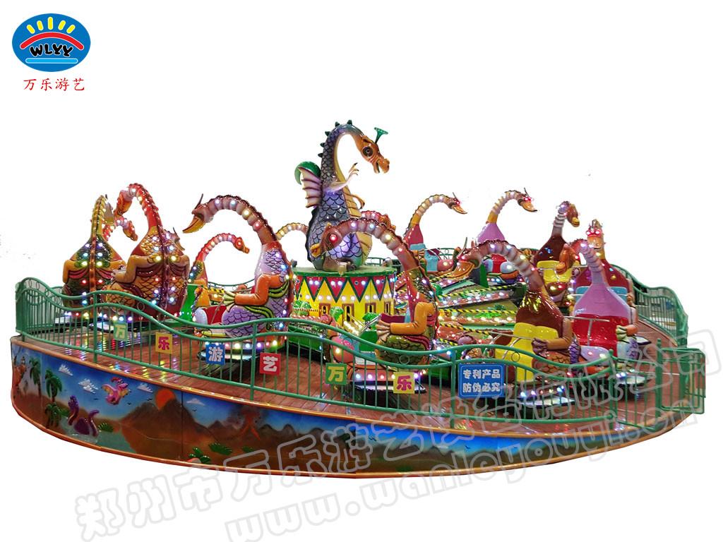 郑州万乐旋转恐龙侏罗纪乐园恐龙乐园新型旋转类儿童游乐设备
