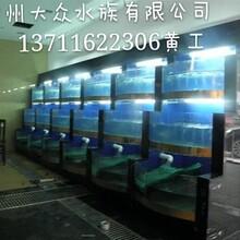 海鲜池订做广州酒店餐饮制冷海鲜鱼池制作图片
