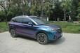 南宁改色膜-车身改色膜-传祺gS4全车卡莱斯闪钻蓝变紫