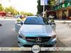 南宁车身改色贴膜,漆面保护膜,奔驰GLA200车身改色贴膜(亚光钻石蓝银色)